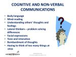 cognitive and non verbal communications