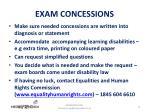 exam concessions