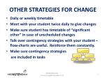 other strategies for change