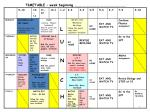 timetable week beginning