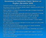 government of uzbekistan expert opinion on roghun november 2008