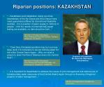 riparian positions kazakhstan
