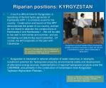 riparian positions kyrgyzstan