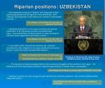 riparian positions uzbekistan