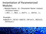 instantiation of parameterized modules