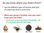 do you know where your food is from