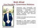 brett allred vice president government relations