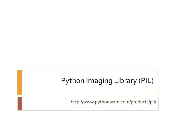 python imaging library pil n.