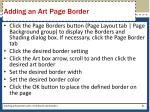 adding an art page border