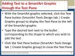 adding text to a smartart graphic through the text pane