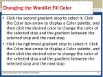 changing the wordart fill color1