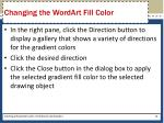 changing the wordart fill color2