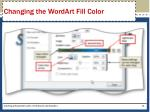 changing the wordart fill color3