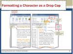 formatting a character as a drop cap1