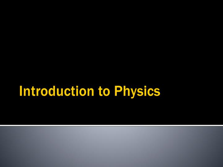 introduction to physics n.