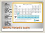 iupac periodic table