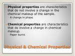 physical chemical properties