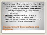 measurement conversions and systems