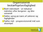 organisatorisk besk ftigelsesfaglighed
