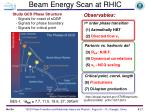 beam energy scan at rhic