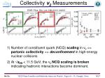 collectivity v 2 measurements
