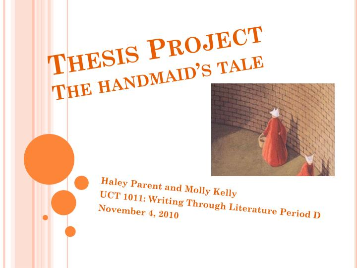 thesis project the handmaid s tale n.