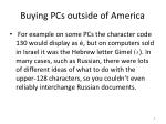 buying pcs outside of america