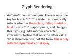 glyph rendering