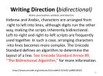 writing direction bidirectional