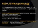 results neuropsychology