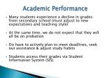 academic performance