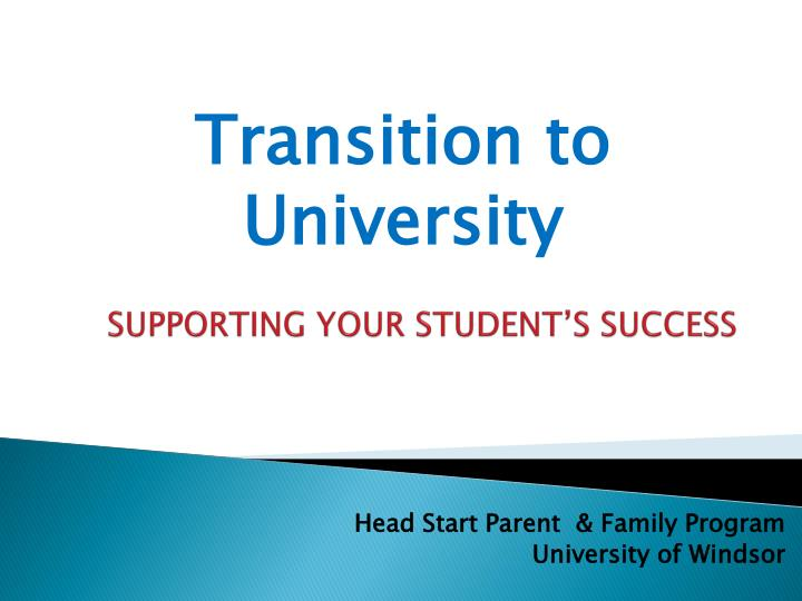 supporting your student s success n.