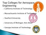 top colleges for aerospace engineering