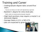 training and career