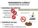 tratamento cl nico atuar nos fatores de risco da dap