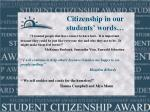 citizenship in our students words