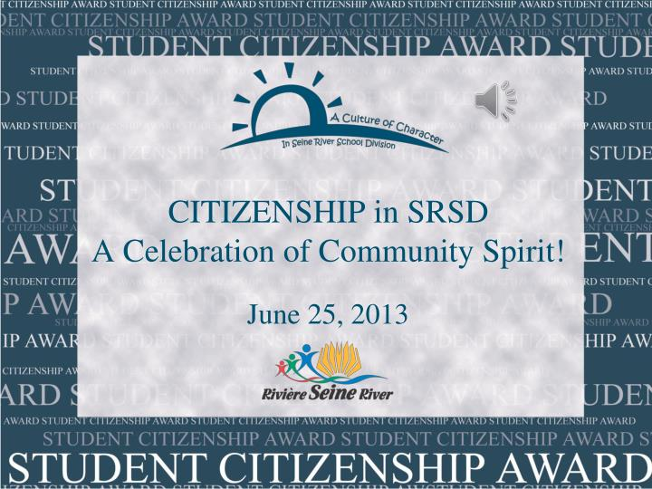 citizenship in srsd a celebration of community spirit n.