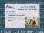 la salle school grade 6 craft club