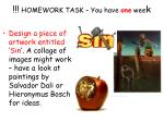 homework task you have one wee k