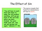 the effect of sin