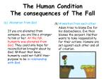 the human condition the consequences of the f all