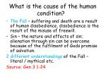 what is the cause of the human condition