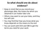 so what should one do about evidence