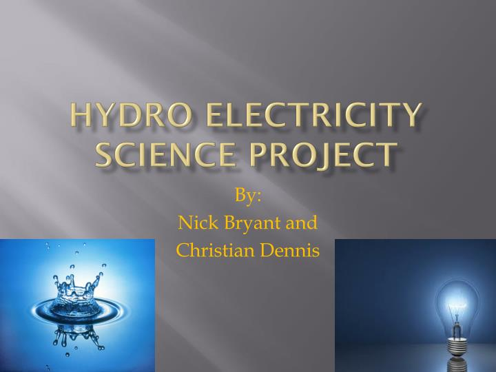 hydro electricity science project n.
