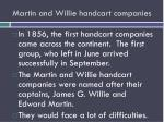 martin and willie handcart companies