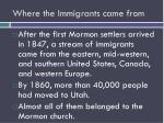 where the immigrants came from