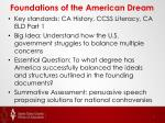 foundations of the american dream