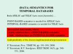 data semantics for temporal databases