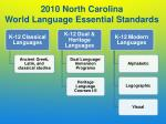 2010 north carolina world language essential standards