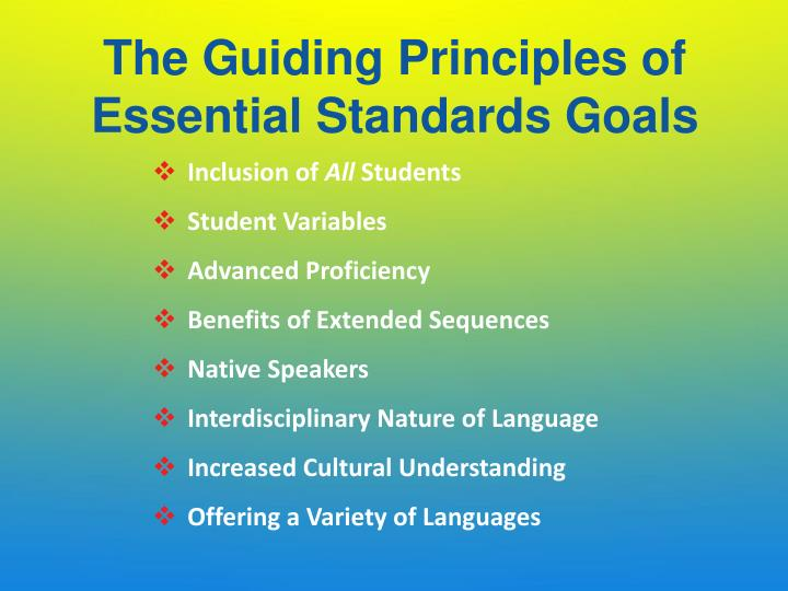 The Guiding Principles of